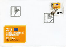 Luxembourg 2018 FDC European Year of Cultural Heritage 1v Cover Cultures Stamps