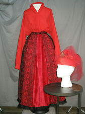 Victorian Dress Edwardian Costume Civil War Reenactment Style w Hat