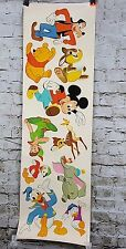 WALT DISNEY PRODUCTIONS PAPER CUT PUNCH OUT WALL DECAL DUMBO GOOFY POOH