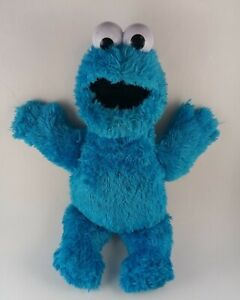 "Feed Me Cookie Monster Talking Vibrating 14"" Sesame Street Hasbro Plush Doll Toy"