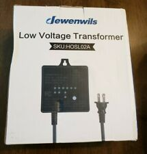 Dewenwils HOSL02A 60W Outdoor Low Voltage Transformer With Timer And...