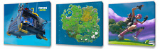 Fortnite Kids canvas wall art plaque pictures set of three pack 4