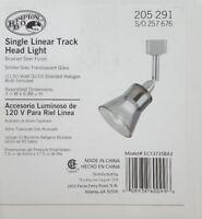 Hampton Bay Halogen Linear Track Head, Brushed Steel, Smoke Glass Shade