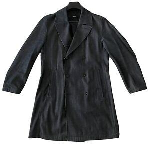 HUGO BOSS - Jeansmantel - Trenchcoat in Jeans Stoff, XL, 54-56, dunkelblau