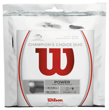 Wilson Champions Choice Duo - Silver / Natural Tennis String Set