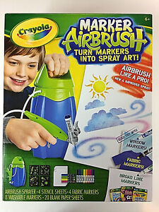 Brand New Crayola Marker Airbrush Sprayer Kit