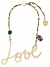 **LANVIN** Script LOVE Crystal Necklace SOLD OUT (Brooch,Ring, Dress, Belt)