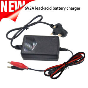 6V Universal Car Intellegent Battery Charger Adapter Toy For Lead Acid Battery