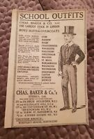 Chas Baker & Co.'s School Outfits -1921 Advertisement
