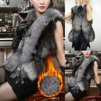 Womens Winter Warm Faux Fur Vest Waistcoat Gilet Sleeveless Jacket Coat Outwear