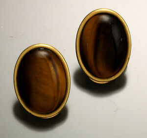 Tigers eye amber clip on