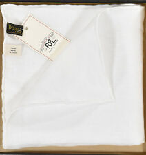 "Ralph Lauren RRL White Linen Pocket Square Handkerchief 15"" x 15"" New"