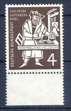 Federal/BRD 198 individuales marca ur (4) -500 J. Gutenberg-biblia - ** post fresco 1954