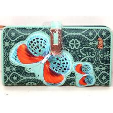 Portafoglio Mundi verde wallet zip organizer borsellino donna card moneta