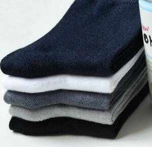 Men Bamboo Breathable Anti-Bacterial High-Quality Sock Lot of 5 Business Socks