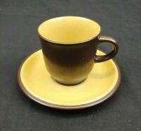 Noritake Folkstone Cup and Saucer Genuine Stoneware Equator (8506) Brown