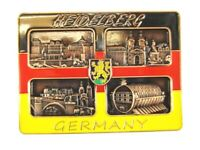 Heidelberg 4er Ansicht Metall Magnet Souvenir Deutschland Germany (16)