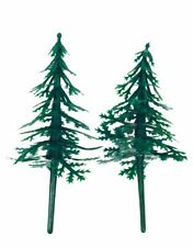 Fir tree Cake Toppers Plastic Christmas Yule Log Cupcake Snow Forest Decoration
