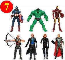 Set of 7 Super Helden Heroes Avengers Figur Figuren Hulk Batman Superman Thor