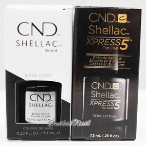 CND Shellac Power Polish Small Base Coat + Top XPRESS5 0.25 fl oz/ 7.3ml DUO Set
