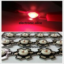 New 10pcs 3W 3Watt deep red 650nm-660nm led chip Plant grow light with 20mm pcb