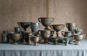 Vintage Wrought Iron Vase Flower Home Golden Silver European Flower Pot Goblet