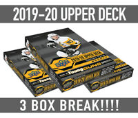 3x BREAK!19-20 Upper Deck Hockey SERIES 1 BOX BREAK Random Teams-Free Shipping!