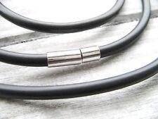 Halskette Kautschuk Kautschukkette 4mm 45cm schwarz SERAJOSY