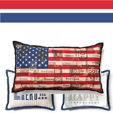 STARS & STRIPES Americana USA Decorative PILLOW Set of 3 USA Flag Hero Liberty