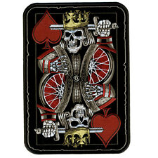 SUICIDE KING DEATH SKULL PLAYING CARD  4 INCH MC BIKER PATCH