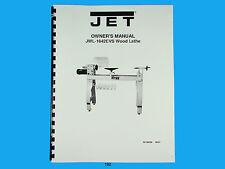 Jet   JWL-1642EVS  Wood Lathe Owners  Manual *192