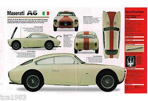 Maserati A6/A6G-2000 A-6 Imp Prospekt: 1953,1954, 1955