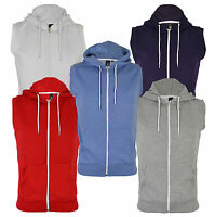 New Soul Star Casual Full Zip Sleeveless Gilet Hooded Sweatshirt Top Hoodie