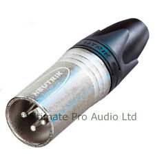 Neutrik Male XLR Plug Audio Cable Connector NC3MXX 3 Pole pin Nickel Body