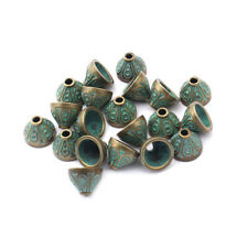 20x Ancient Greek Bronze Tassel End Caps Beads Stopper DIY Jewellery Findings