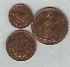 More details for three proof 1937 george vi penny, halfpenny & farthing in near mint condition
