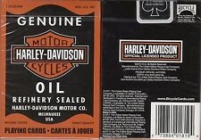 Harley Davidson Oil Playing Cards Poker Size Deck USPCC Custom Limited Edition