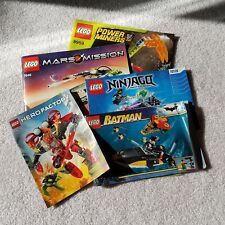 Lego Instruction Manual Booklet Lot - Set of 5 - Batman Mars Miners Hero Factory