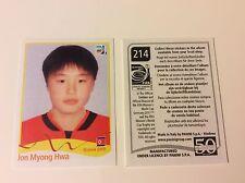 PANINI WM 2011 FRAUEN Fußball NR.214 Jon Myong Hwa RICHTIGE NEU MINT RAR