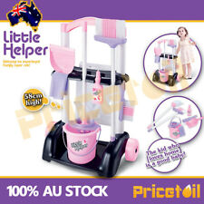 Kids Childrens Cleaning Trolley Toy Pretend Play Cleaner Housework Set Xmas Gift
