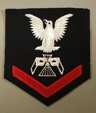 N.O.S. U.S.Navy PHOTOGRAPHIC INTELLE ( PT )P.O.3RD Class Wool patch (GEMSCO Inc)