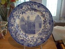 Historical Blue Wedgwood 1927 HARVARD Plate - Harvard Hall, Holden & Lionel