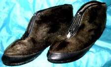 Vintage SNO-CATS SEAL Fur Mukluk Winter Short Snow Boots Fleece Lined SHOES