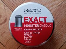 JSB Exact Moster Diabolo cal .177(4.52mm) Air Gun Hunting Pellet, Big Sale