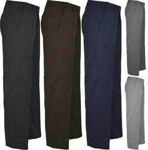 Adults Casual Formal Office Pant Trouser Mens Business Work Smart Pocket Pants