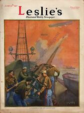 Leslie's Illustrated Weekly Newspaper/Magazine June 14, 1917 News/Photos/Ads