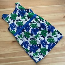 Janie And Jack Lakeshore Getaway Blue/Green Floral Dress Size 3 3T