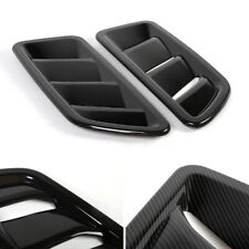 2x Carbon Fiber Front Engine Hood Air Vent Cover Trim For Jeep Wrangler Jl 2018+ (Fits: Jeep)