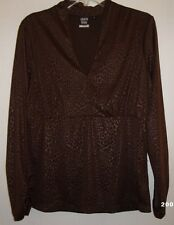 Sharon Young Womens Brown Long Sleeve Top~~Size Medium~~GC