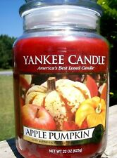 """Yankee Candle Retired """"Apple Pumpkin""""~Food~Large 22 oz ~ White Label~Rare~New"""